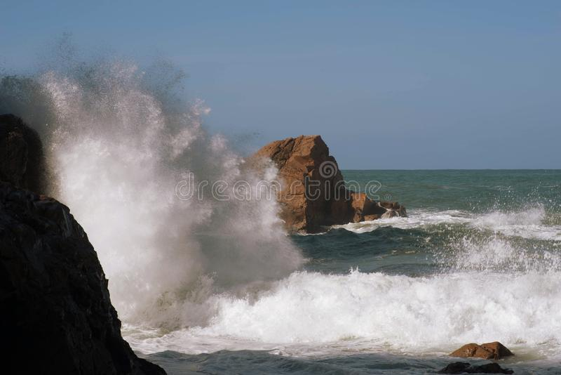 O Oceano Atlântico fotografia de stock royalty free