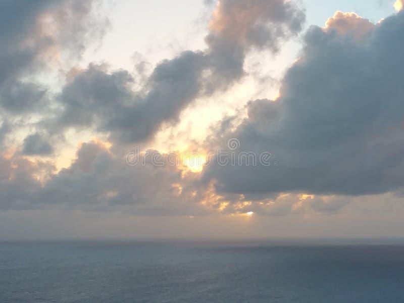 O oceano Sunset fotografia de stock