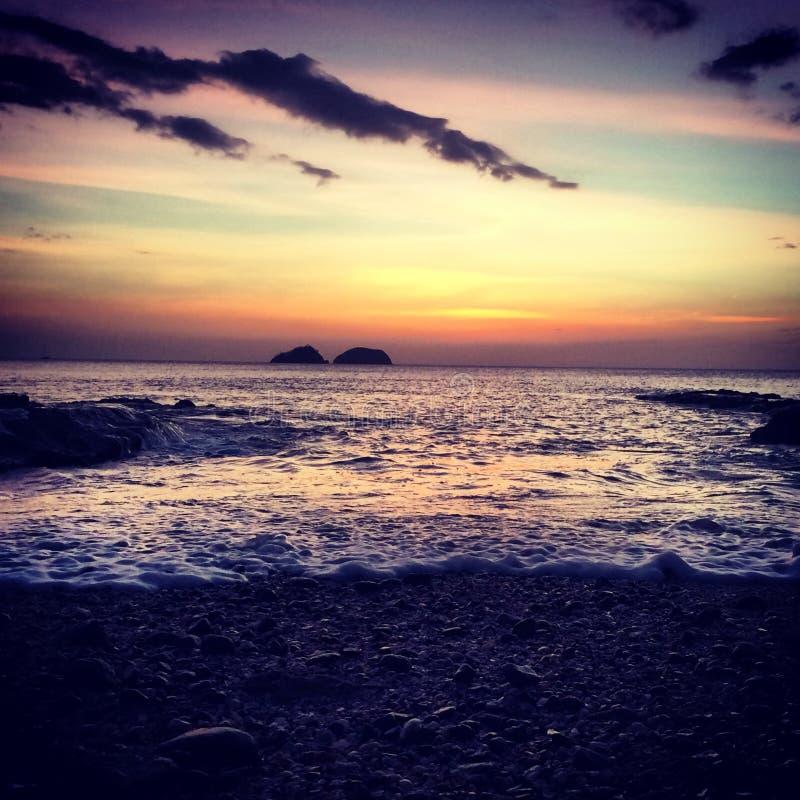 O oceano Sunset imagens de stock