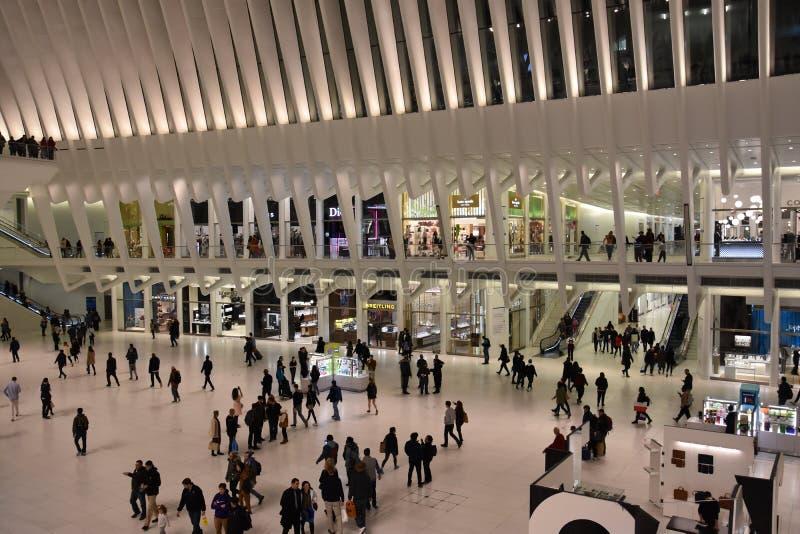 O Oculus do cubo do transporte do World Trade Center de Westfield em New York fotos de stock