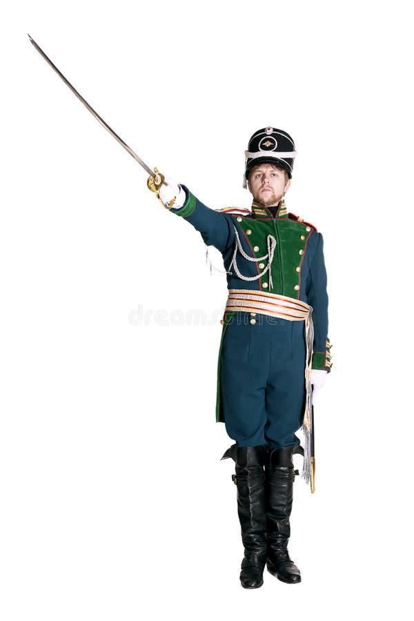 O oficial dos protetores Jaeger Regiment imagens de stock