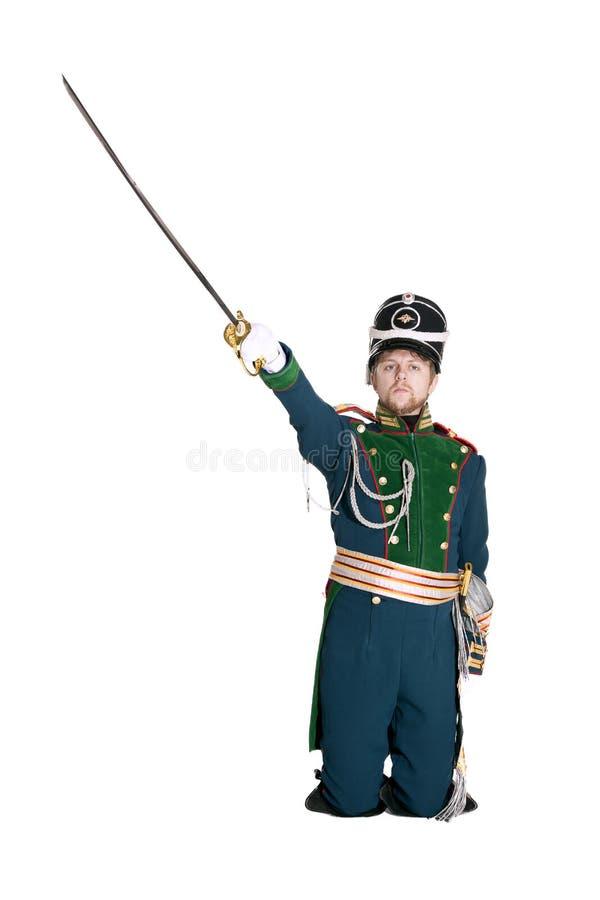 O oficial dos protetores Jaeger Regiment foto de stock
