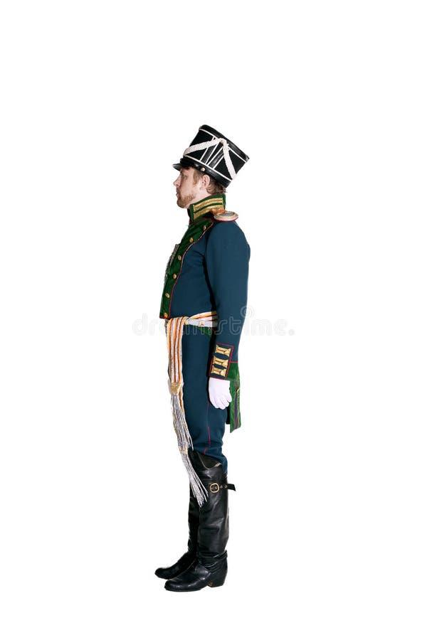 O oficial dos protetores Jaeger Regiment imagem de stock