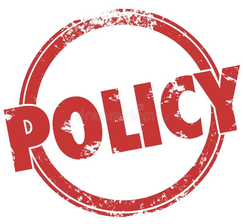 O oficial redondo do selo da palavra da política ordena a conformidade das diretrizes ilustração do vetor