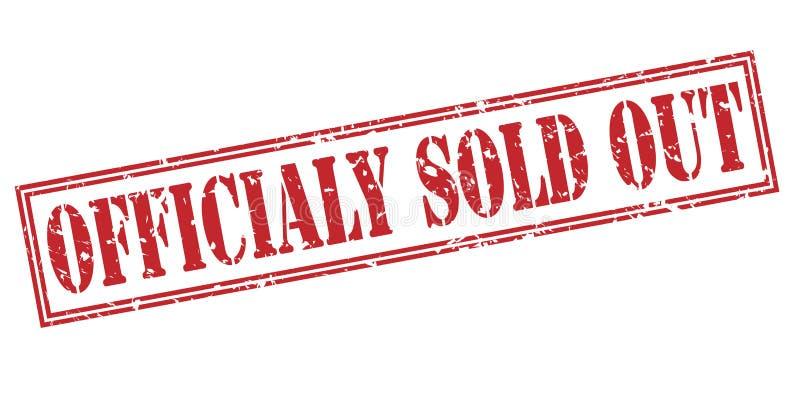 O oficial vendeu para fora o selo vermelho ilustração stock