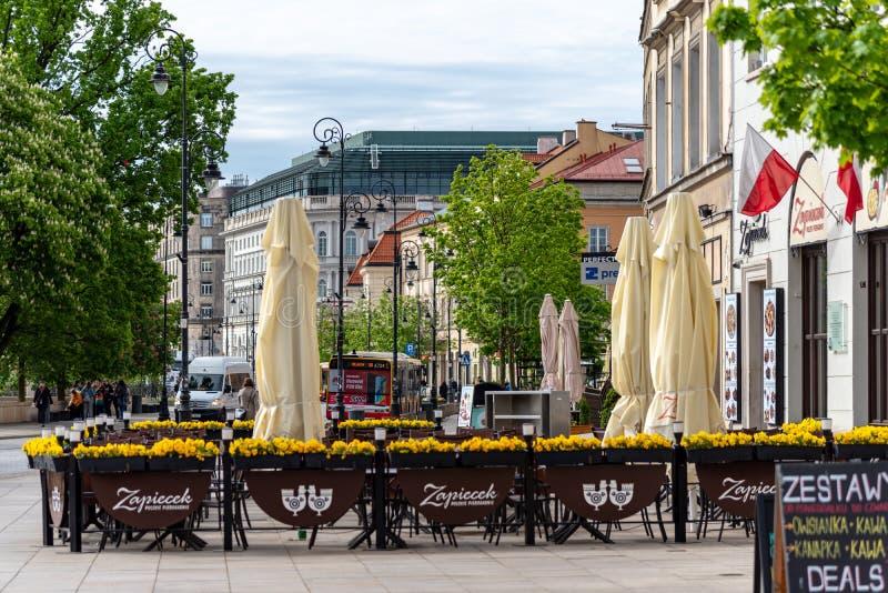 O olhar fixo velho Miasto da cidade de Vars?via ? o centro hist?rico de Vars?via imagens de stock royalty free