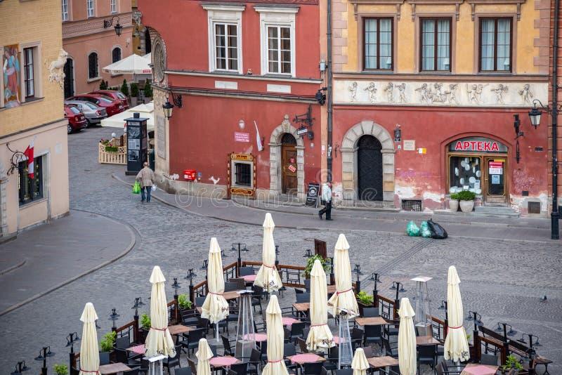 O olhar fixo velho Miasto da cidade de Vars?via ? o centro hist?rico de Vars?via fotos de stock royalty free