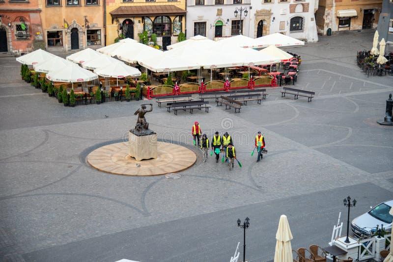 O olhar fixo velho Miasto da cidade de Vars?via ? o centro hist?rico de Vars?via imagem de stock royalty free