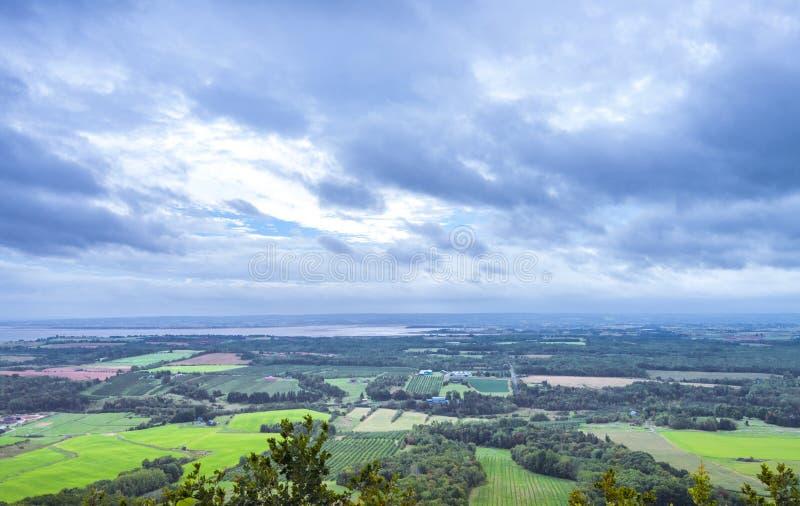 O olhar fora de (vale de Annapolis, Nova Scotia) foto de stock royalty free