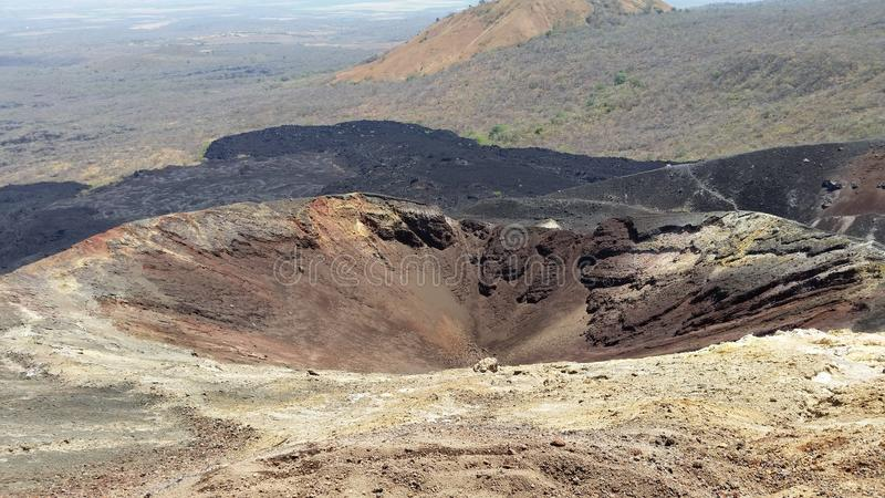 O olho da cratera imagens de stock