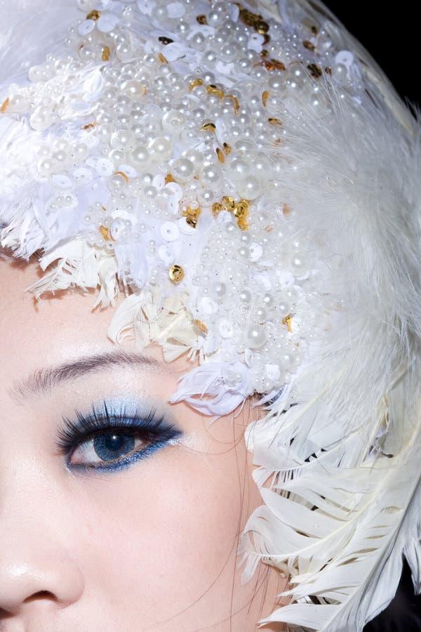 O olho da menina imagem de stock royalty free