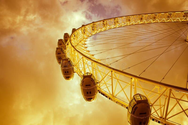 O olho de Londres, Londres, Inglaterra fotos de stock