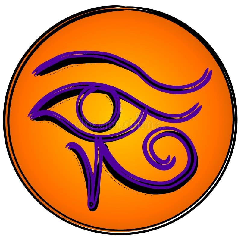 O olho do símbolo do ícone de Horus ilustração stock