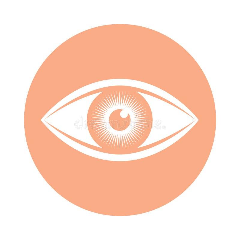 O olho humano assina dentro o círculo ilustração royalty free