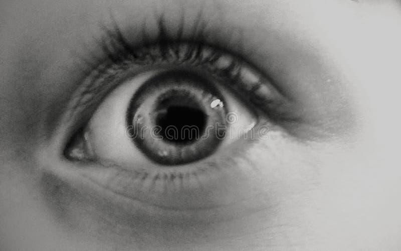 O olho precisa seu tempo imagem de stock