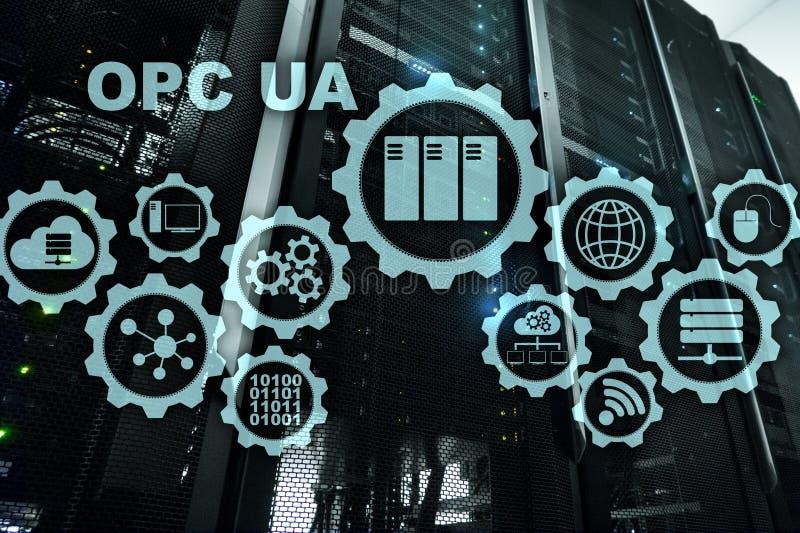 O OPC unificou a arquitetura Transmiss?o de dados no conceito industrial das redes imagens de stock