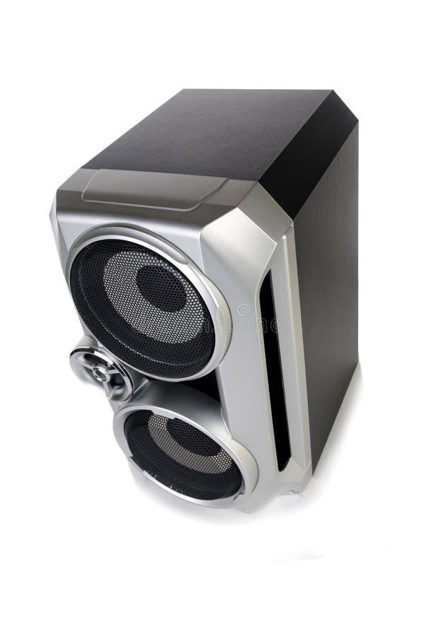 O orador audio sadio isolado no fundo branco imagem de stock