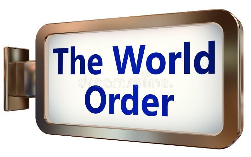 O ordem mundial no fundo do quadro de avisos ilustração royalty free