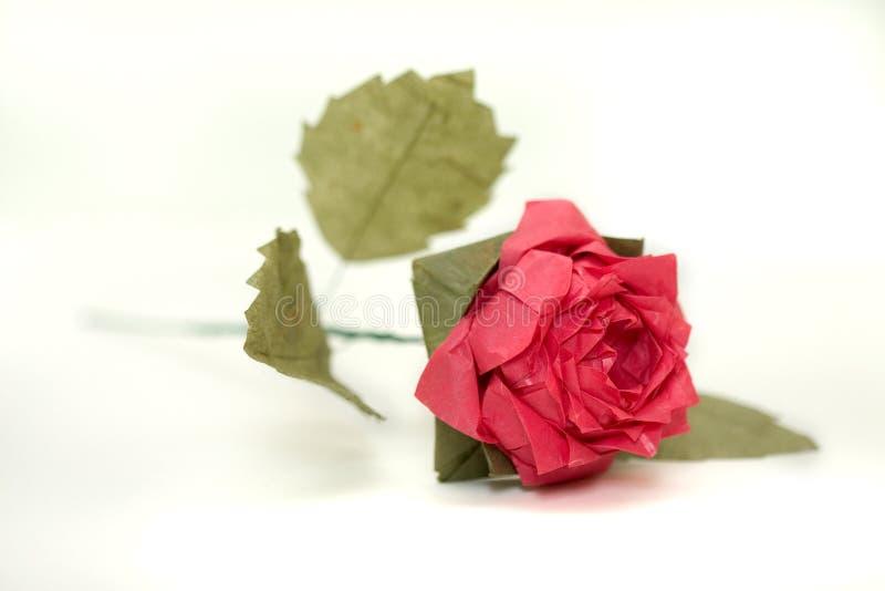 O origami complexo levantou-se 2 imagens de stock