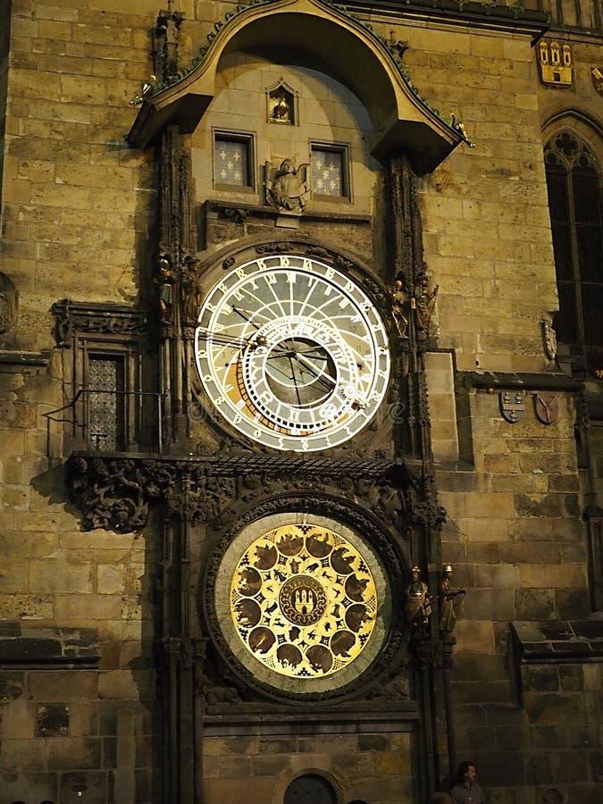 O Orloj em Praga - República Checa imagens de stock