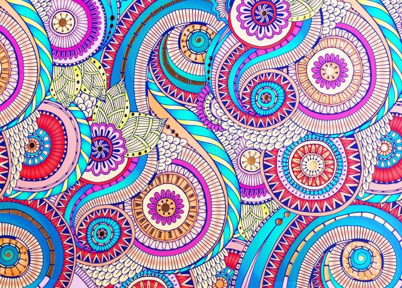 O ornamento colorido textura no papel ilustração do vetor