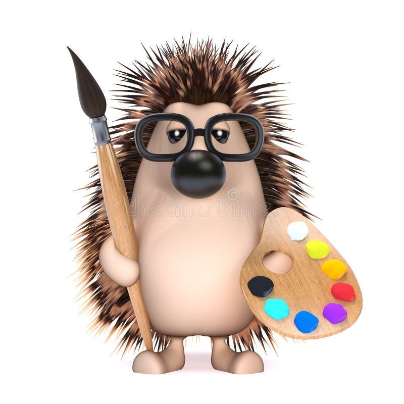 o ouriço 3d é um artista ilustração royalty free