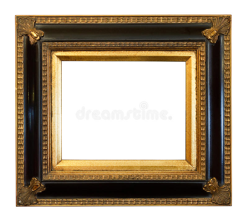 A antiguidade velha dourou a moldura para retrato fotografia de stock royalty free
