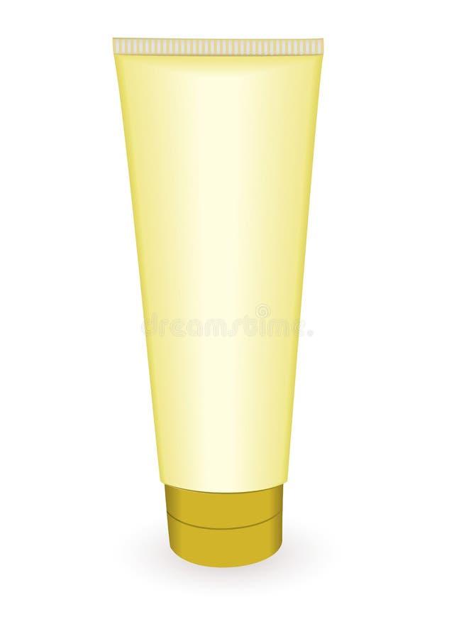 O ouro compo a câmara de ar ilustração do vetor