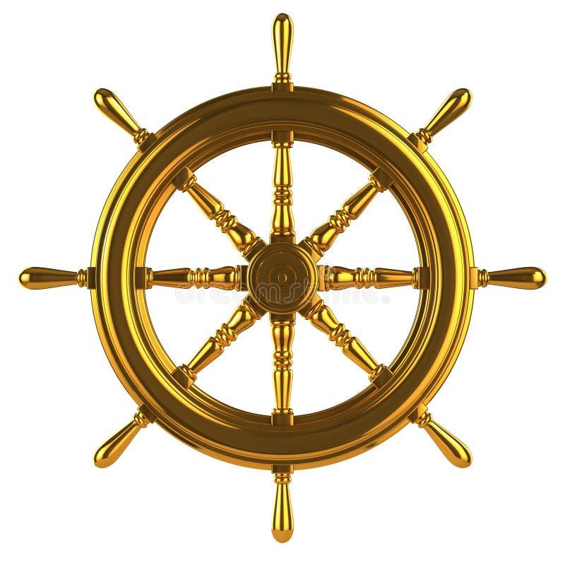 o ouro 3d envia a roda ilustração royalty free