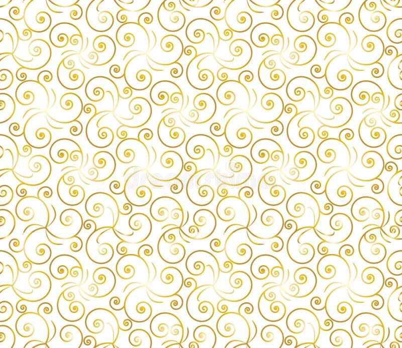 O ouro floresce um padrão sem costura para celebração e ocasiões festivas ilustração royalty free