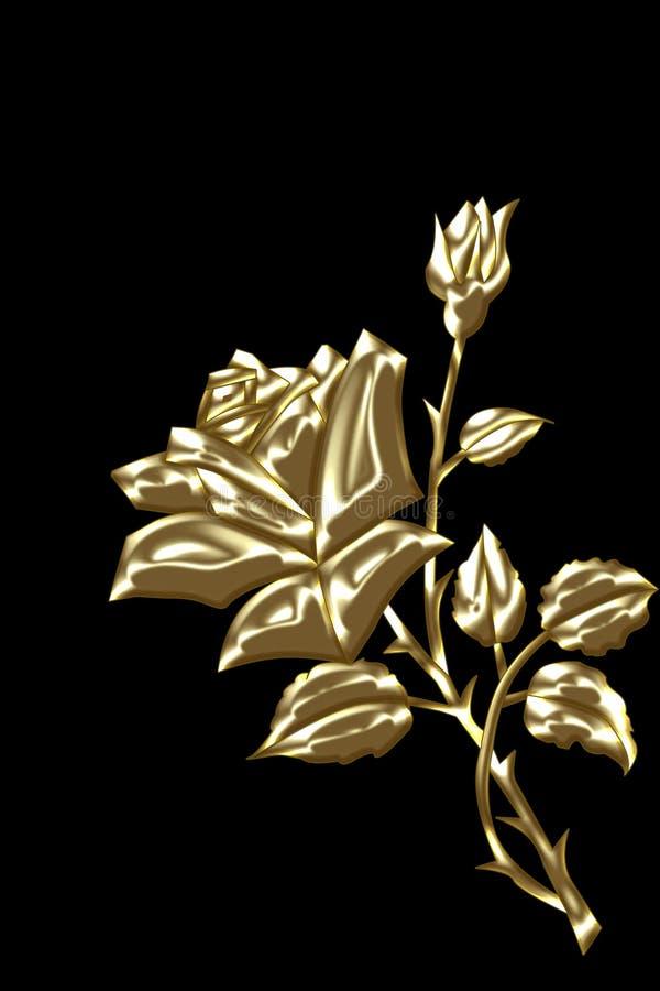 O ouro levantou-se com ilustração do vetor