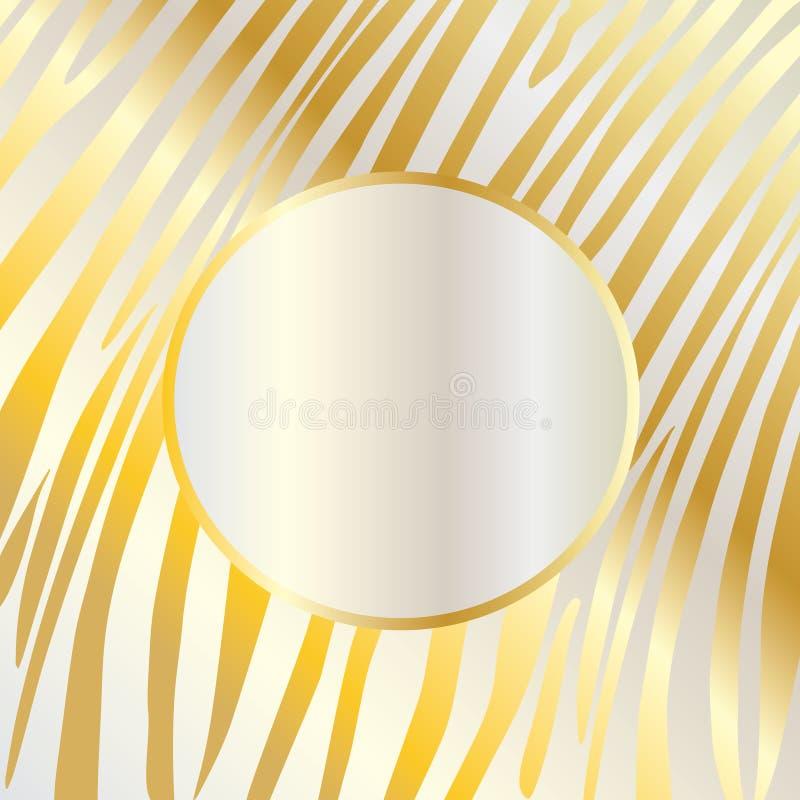 O ouro listra o fundo abstrato ilustração stock