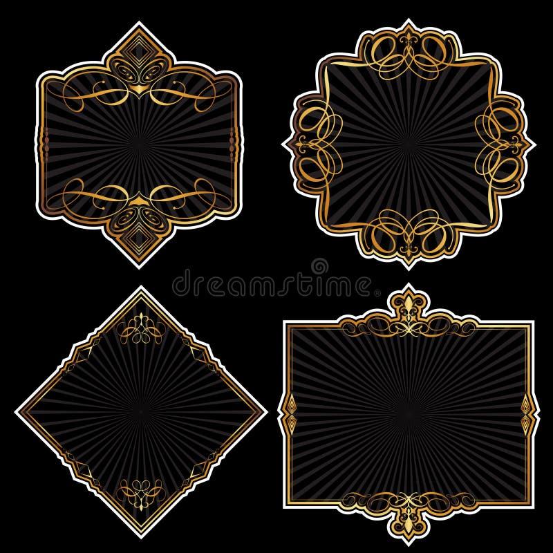 O ouro molda a coleção ilustração do vetor