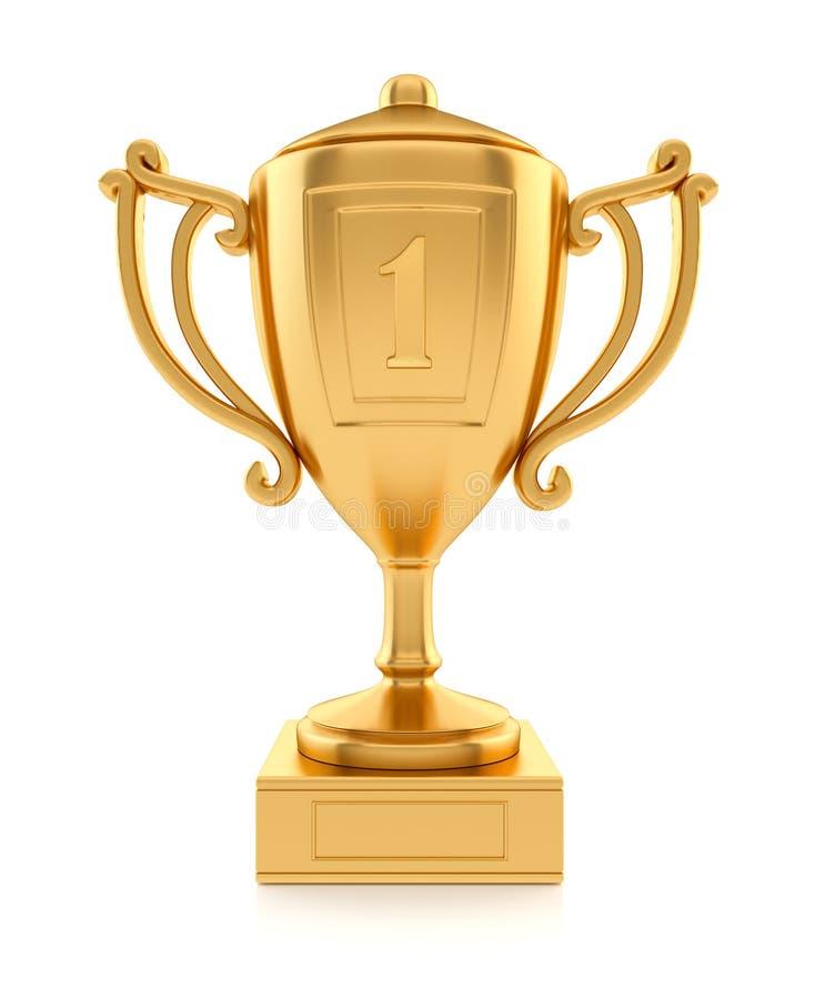 O ouro ostenta o copo de campeão ilustração royalty free