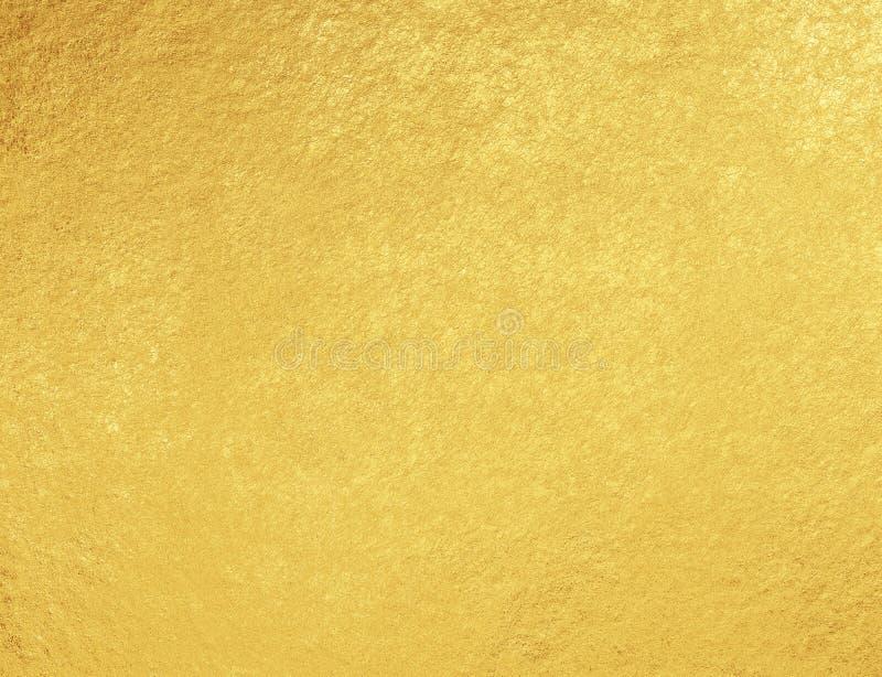 O ouro riscou o fundo da folha ilustração stock