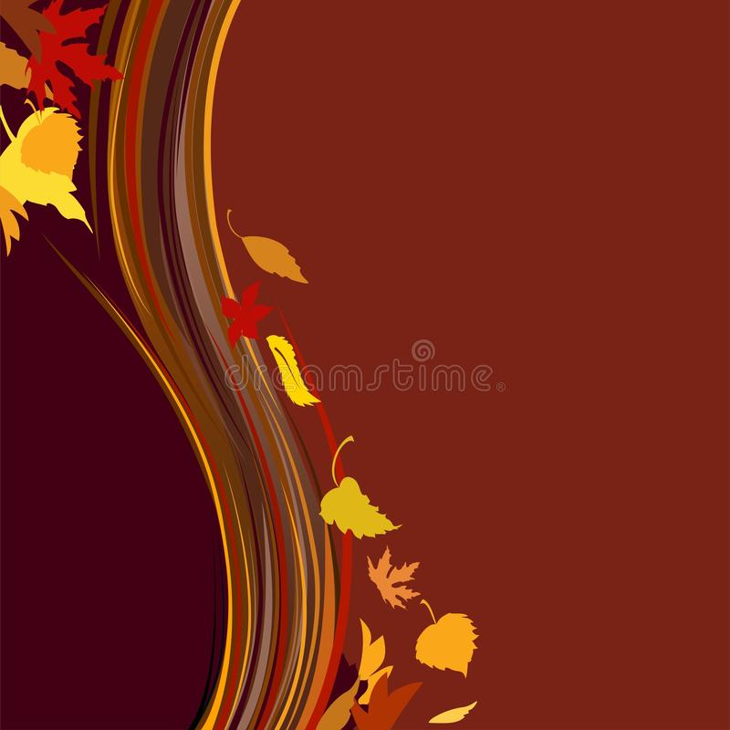O outono colore o fundo ilustração royalty free
