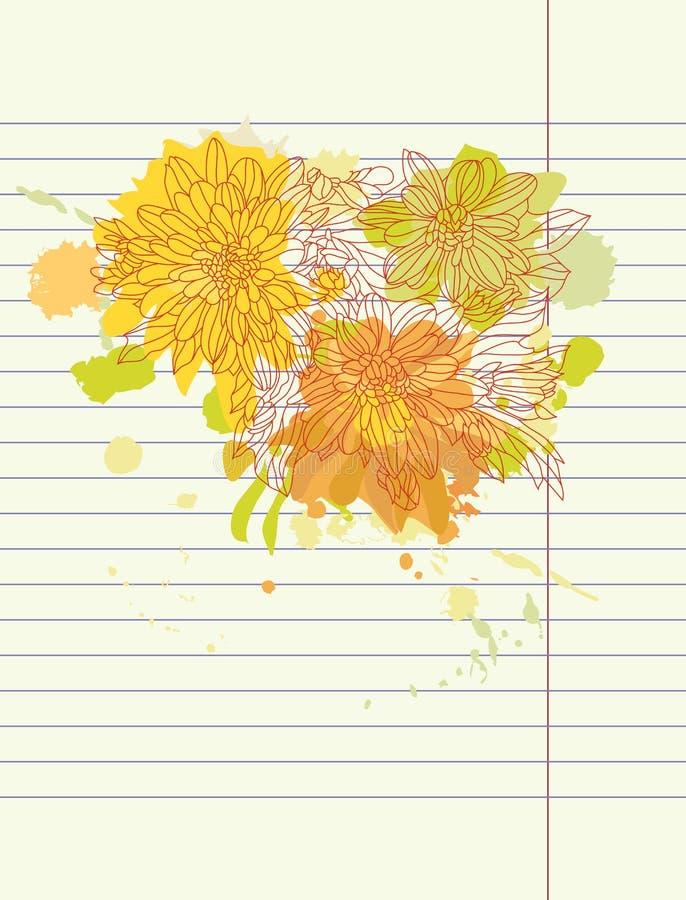 O outono do desenho da mão floresce o vetor ilustração do vetor