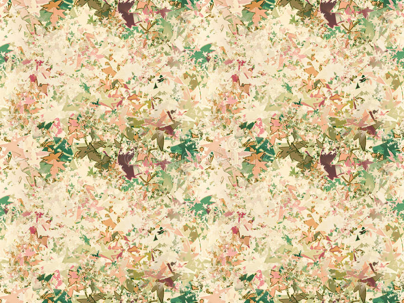 O outono folheia colagem como o fundo abstrato ilustração royalty free