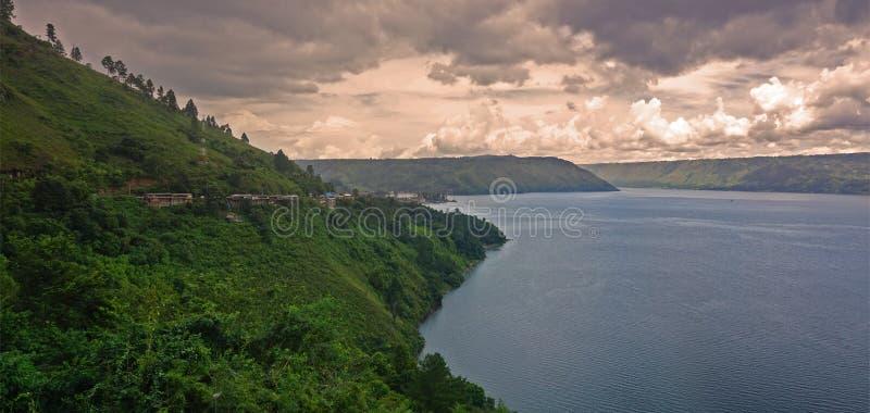 O outro lago lateral Toba, Sumatra norte fotografia de stock royalty free