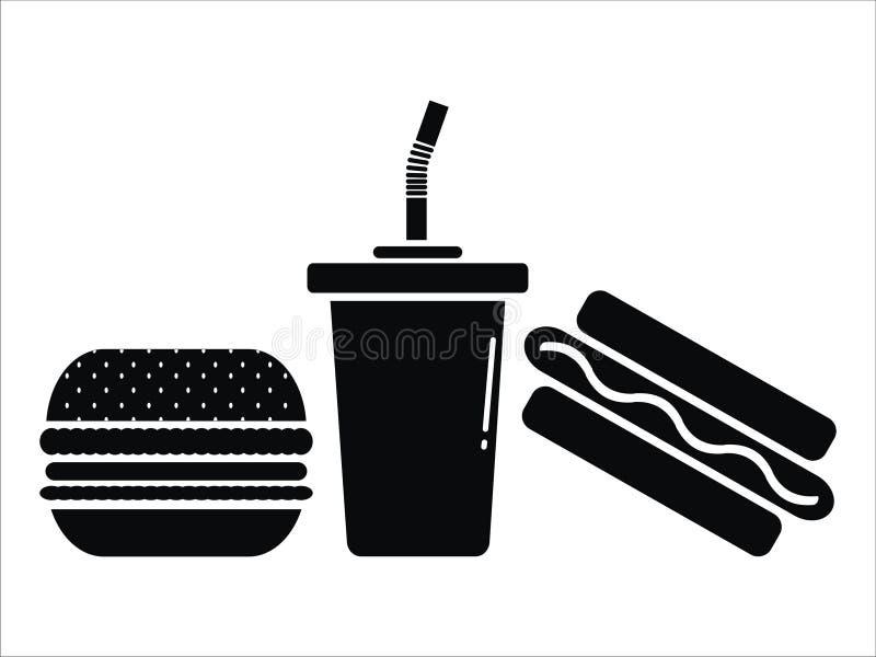 O outro vetor da comida lixo ilustração do vetor