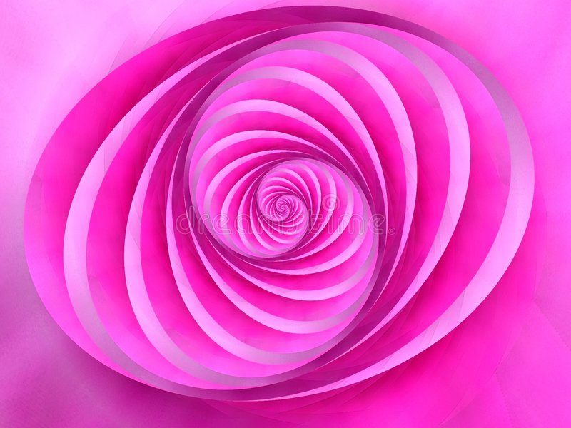 O Oval roda cor cor-de-rosa das listras ilustração royalty free