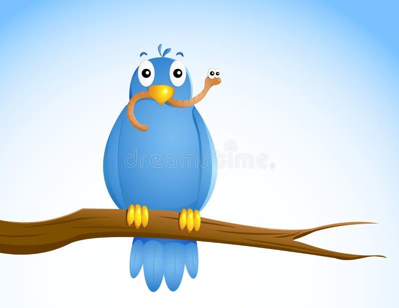 O pássaro adiantado? ilustração do vetor