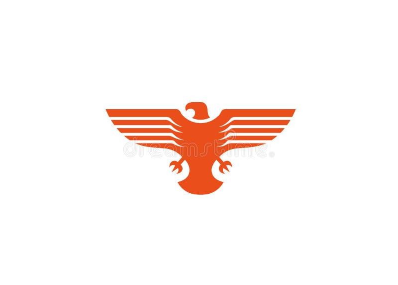 O pássaro criativo voa o logotipo ilustração royalty free
