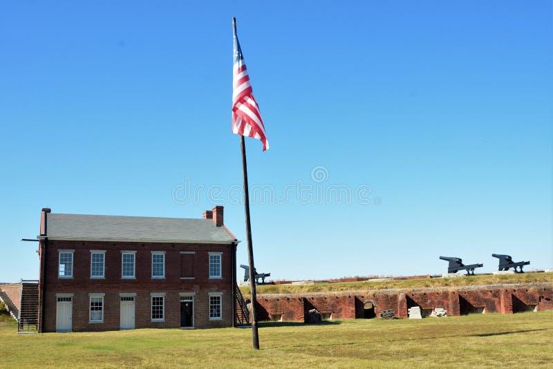 O pátio do rebitamento do forte era o centro de toda a atividade exterior foto de stock royalty free