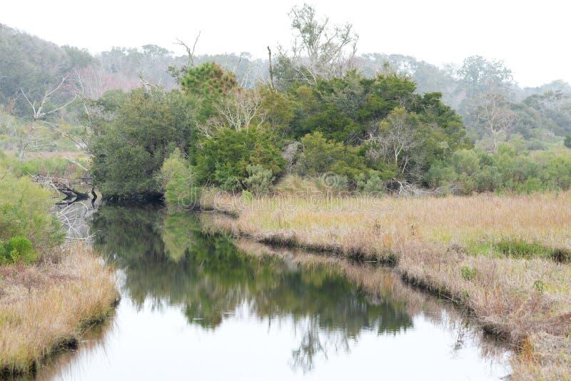 O pântano e a via navegável são uma característica bonita de Amelia Island fotografia de stock royalty free
