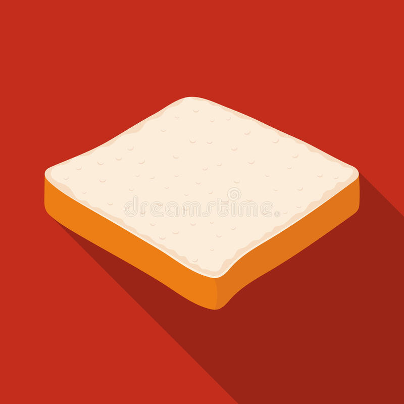 O pão é uma parte de um sanduíche Os hamburgueres e os ingredientes escolhem o ícone na ilustração lisa do estoque do símbolo do  ilustração stock