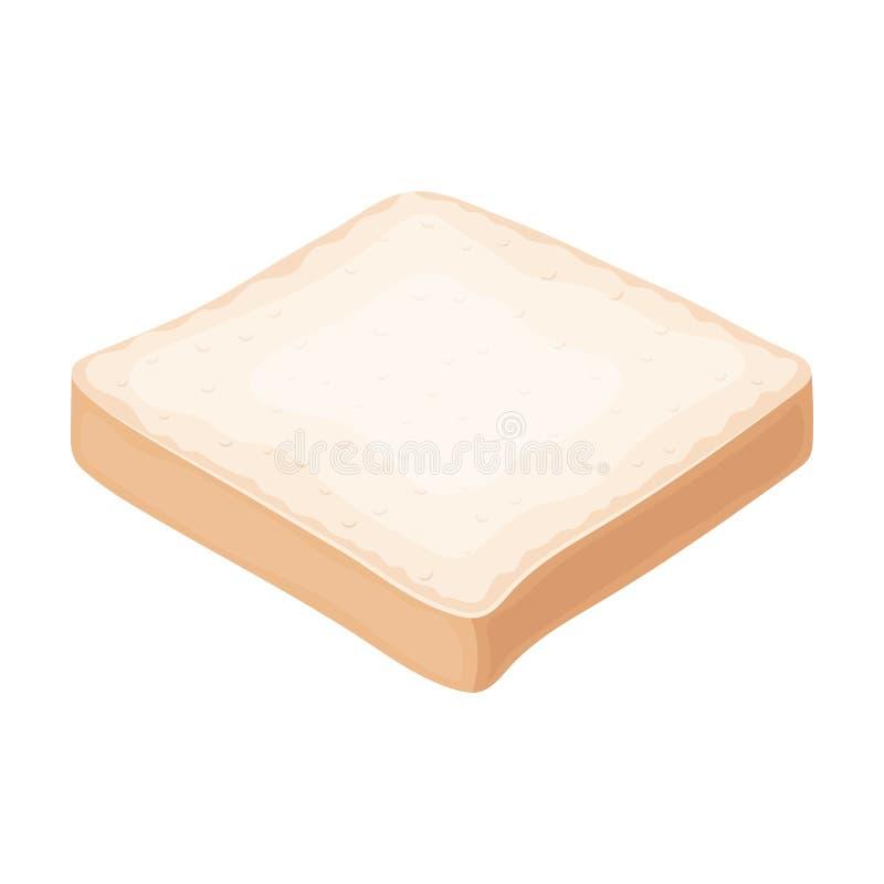 O pão é uma parte de um sanduíche Os hamburgueres e os ingredientes escolhem o ícone no avaliador do estilo dos desenhos animados ilustração royalty free