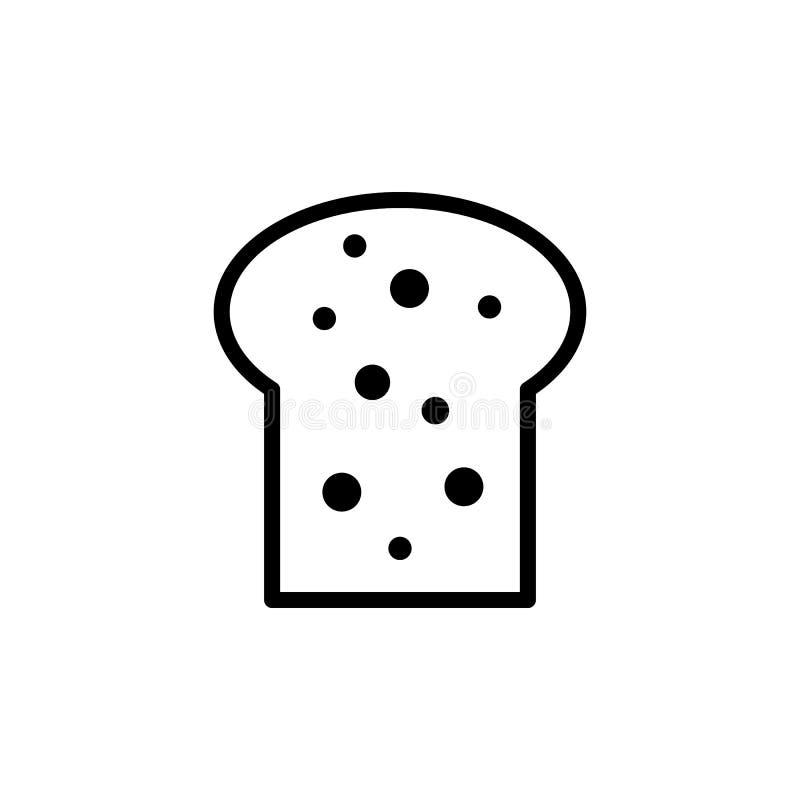 o pão corta o ícone ilustração royalty free