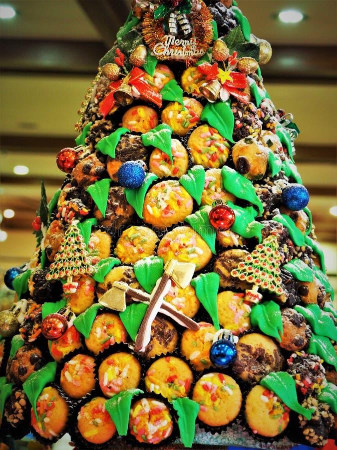O pão fez o Natal Decolation no restaurante fotos de stock