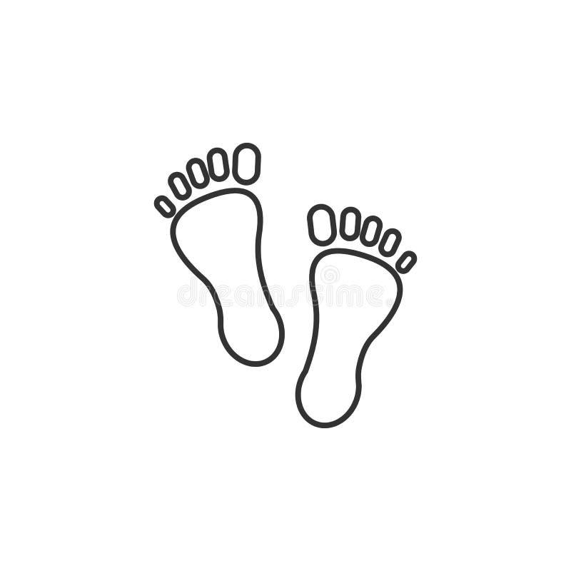 O pé, passos alinha o ícone Ilustração lisa simples, moderna do vetor para o app móvel, Web site ou desktop app ilustração royalty free